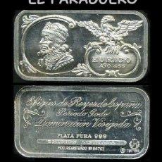 Medallas temáticas: LINGOTE DE PLATA MACIZA EDICION LIMITADA HOMENAJE AL REY ESPAÑOL VISIGODO EURICO AÑO 466 -Nº75. Lote 293971613