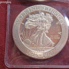 Medallas temáticas: ESTADOS UNIDOS. ONZA TROY DE PLATA PURA. 999. WALKING LIBERTY. Lote 295351938