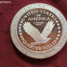 Medallas temáticas: ESTADOS UNIDOS. ONZA TROY DE PLATA PURA. 999. STANDING LIBERTY. Lote 295352013