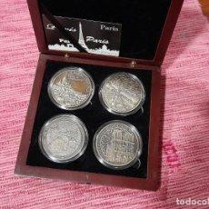 Medallas temáticas: ESTUCHE CON 4 MEDALLAS SOUVENIRS & PATRIMOINE, PARIS. Lote 295746008