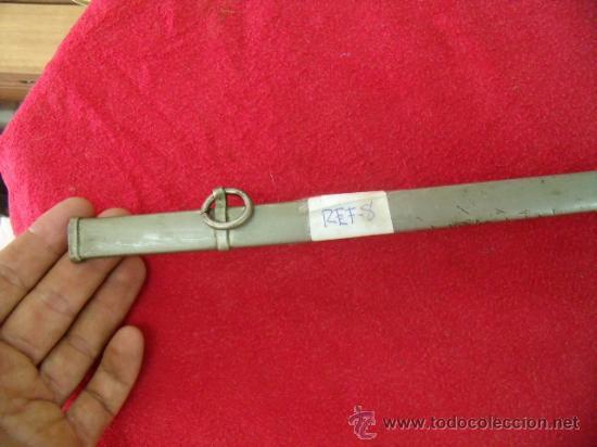 Militaria: Antigua funda metálica de sable de niño o de gala, mide 49,2 cms de larga. REF-8 - Foto 4 - 27263192