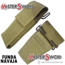 Militaria: FUNDA NAVAJA COMANDO CAMUFLAGE + PASADOR BAYONETA ** ADMITE NAVAJAS DE 15 CMS CERRADAS. Lote 58883641