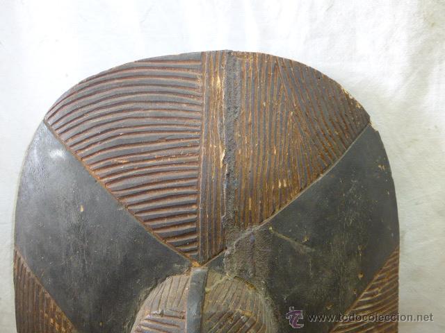 Militaria: Antiguo y original escudo de tribu africana, de madera tallada, africa - Foto 4 - 45110167