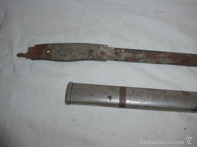 Militaria: Lote de hoja de espada antigua y parte de funda - Foto 3 - 58400914