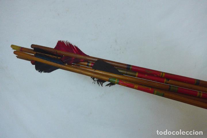 Militaria: Antiguo carcaj de arco de flechas, creo del amazonas de america del sur. Original. - Foto 5 - 126193315