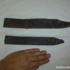 Militaria: LOTE 2 ANTIGUA FUNDA DE CUCHILLO ESPAÑOL, S.XIX Y PRINCIPIOS S.XX, ORIGINALES.. Lote 129149555