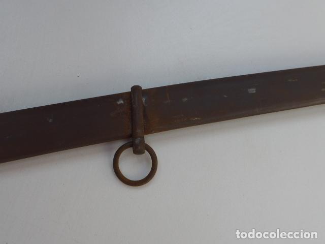 Militaria: * Antigua funda de sable o espada curvada, original de siglo XIX. ZX - Foto 9 - 154554018