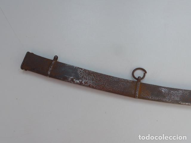* ANTIGUA FUNDA DE SABLE O ESPADA CURVADA, ORIGINAL SOBRE 1820S. ZX (Militar - Complementos Para Armas Blancas)