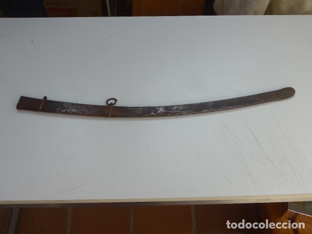 Militaria: * Antigua funda de sable o espada curvada, original sobre 1820s. ZX - Foto 2 - 154555050