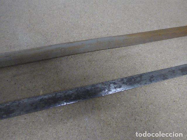 Militaria: Lote 2 antiguas hoja recta de espada, una con marcajes en hoja. originales - Foto 5 - 189378136