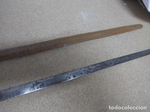 Militaria: Lote 2 antiguas hoja recta de espada, una con marcajes en hoja. originales - Foto 6 - 189378136