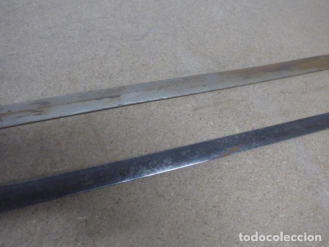 Militaria: Lote 2 antiguas hoja recta de espada, una con marcajes en hoja. originales - Foto 10 - 189378136