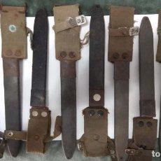Militaria: 11 FUNDAS DE BALLONETAS DEL CETME MODELO C, HAY DE MARINA, EN NEGRO Y DEL EJÉRCITO DE TIERRA EN VERD. Lote 193236207