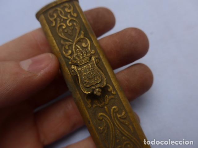 Militaria: * Antiguo brocal de general español de epoca amadeo, para funda de espada, original. ZX - Foto 2 - 193284971