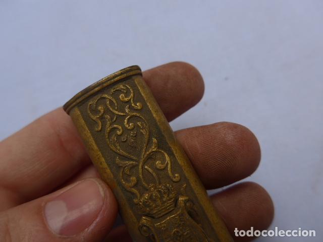 Militaria: * Antiguo brocal de general español de epoca amadeo, para funda de espada, original. ZX - Foto 4 - 193284971