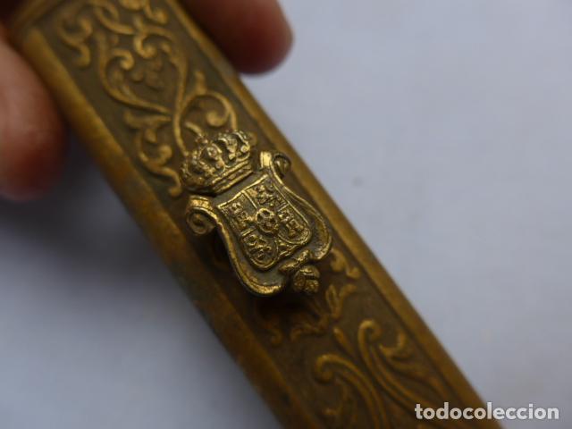 Militaria: * Antiguo brocal de general español de epoca amadeo, para funda de espada, original. ZX - Foto 11 - 193284971