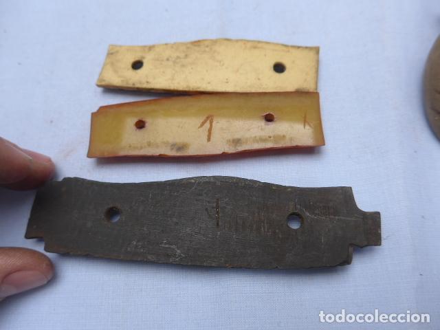 Militaria: * Antiguo lote de mango o empuñaduras y cachas de espada o sable, original. ZX - Foto 6 - 193285730