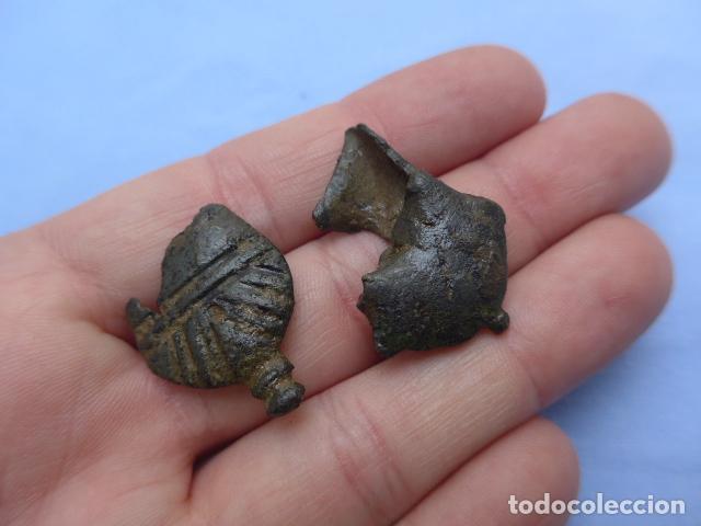 Militaria: * Muy antiguo lote de contera española para funda de cuchillo o espada, original. ZX - Foto 5 - 193287447