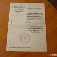 Militaria: SALVOCONDUCTODELEGACION DE ASUNTOS INDIGENAS -ESTADO ESPAÑOL EN MARRUECOS-TANGER-. Lote 195132010