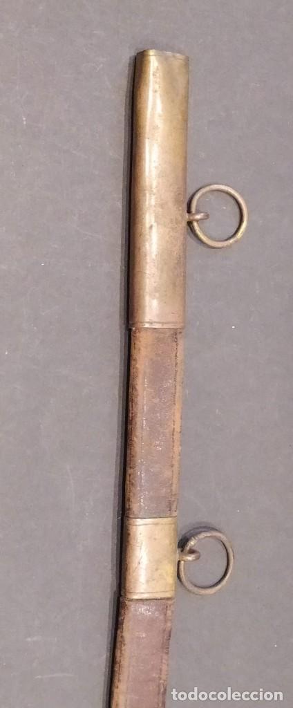 Militaria: Funda de espada o espadín en cuero - Foto 2 - 203620685