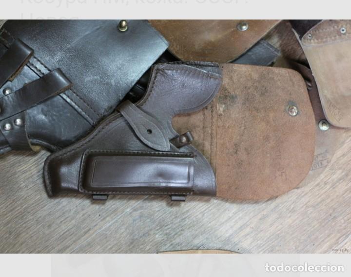 Militaria: Funda de cuero para pistola Makarov. URSS, RUSIA. - Foto 4 - 225706630