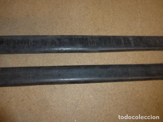 Militaria: Lote 2 antigua funda de cuero de espada española, original. - Foto 2 - 239597850