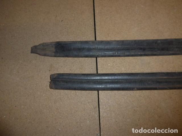 Militaria: Lote 2 antigua funda de cuero de espada española, original. - Foto 9 - 239597850
