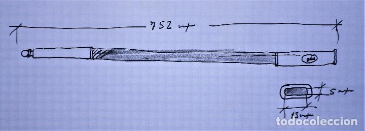 Militaria: Vaina de cuero, para espadín, con brocal y contera - Foto 6 - 241039145