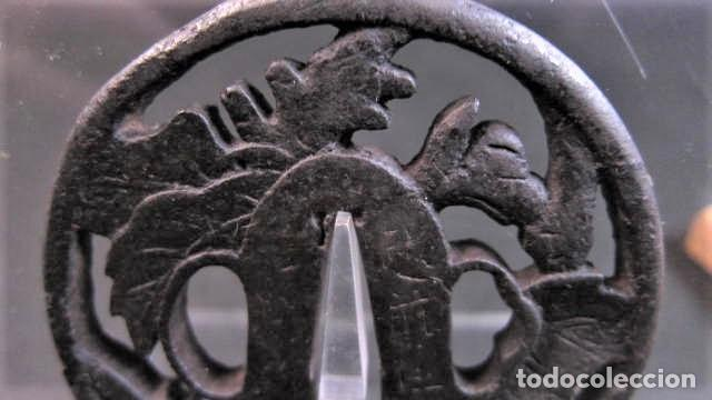 Militaria: tsuba antigua firmada - Foto 2 - 253799630
