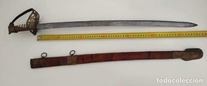 Militaria: Sable espada Shaver cool Armada de la marina Países Bajos hoja grabada con dibujos Shavercool VOC - Foto 7 - 288195628