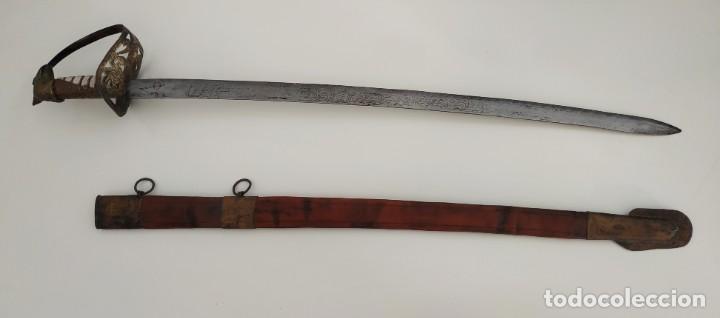 Militaria: Sable espada Shaver cool Armada de la marina Países Bajos hoja grabada con dibujos Shavercool VOC - Foto 15 - 288195628