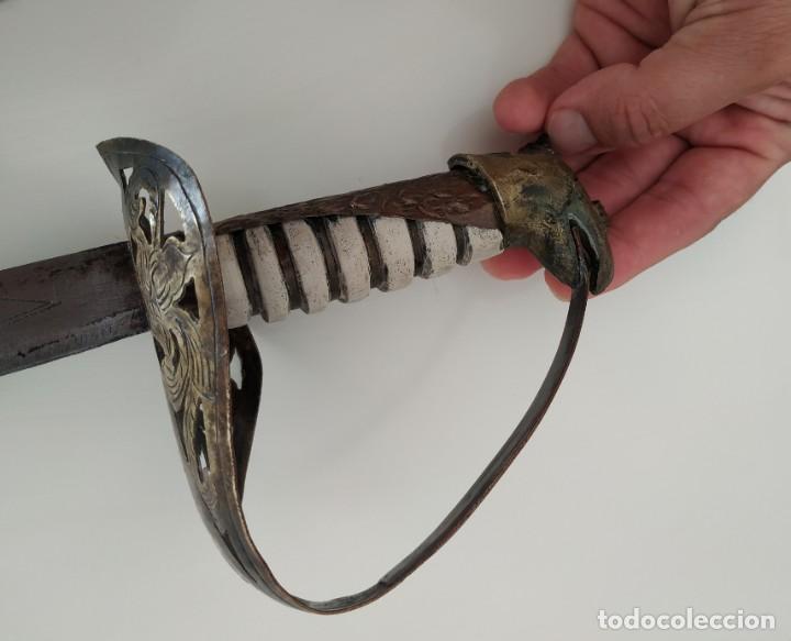 Militaria: Sable espada Shaver cool Armada de la marina Países Bajos hoja grabada con dibujos Shavercool VOC - Foto 16 - 288195628