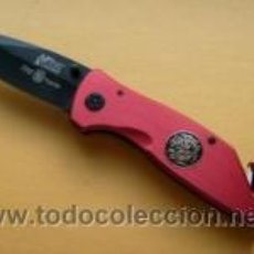 Militaria: NAVAJA DE RESCATE VEHICULOS SINIESTRADOS, FIREFIGHTER MTECH KNIFE RESCUE MTECH NEW MX 8029 XT U.S.A.. Lote 26303436