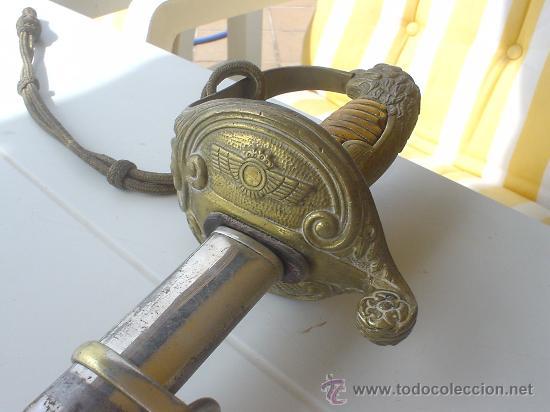 AVIACION, SABLE REGLAMENTO DE UNIFORMIDAD 1946 FABRICA NACIONAL DE TOLEDO. (Militar - Armas Blancas Originales de Fabricación Posterior a 1945)