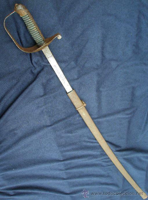 SABLE ESPAÑOL DE ACADEMIA DE CABALLERÍA. ÉPOCA ANTIGUA MONARQUÍA (Militar - Armas Blancas Originales Fabricadas entre 1851 y 1945)