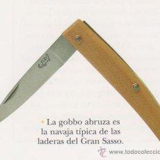 Militaria: Nº 6 - NAVAJA ESTILO GOBBO - HOJA DE ACERO. Lote 26877562