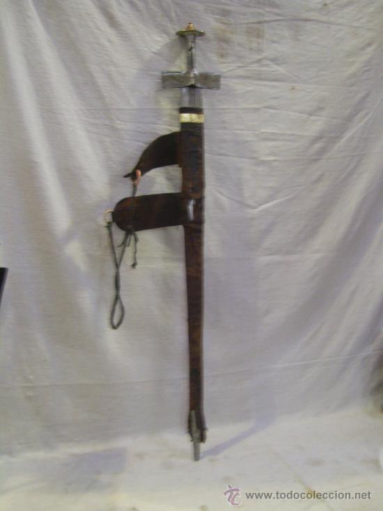 Militaria: Espada sable Africana. TAKOUBA arma tipica de los Tuaregs, nomadas del desierto Sahariano. - Foto 2 - 27365111