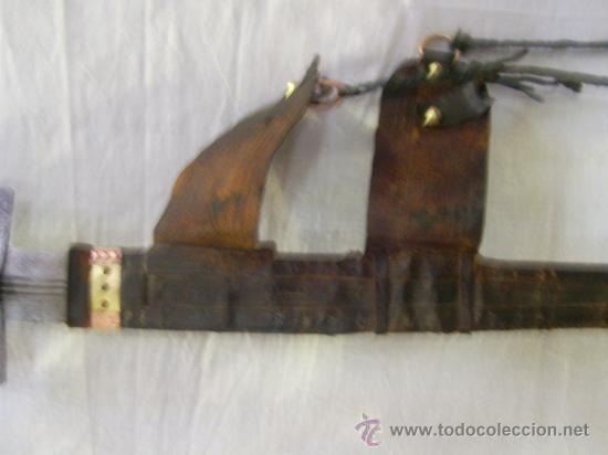 Militaria: Espada sable Africana. TAKOUBA arma tipica de los Tuaregs, nomadas del desierto Sahariano. - Foto 11 - 27365111
