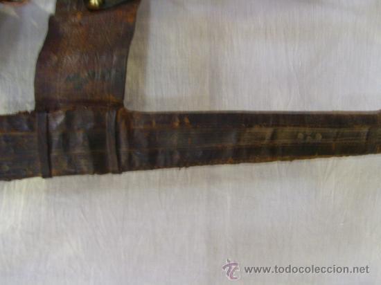 Militaria: Espada sable Africana. TAKOUBA arma tipica de los Tuaregs, nomadas del desierto Sahariano. - Foto 13 - 27365111