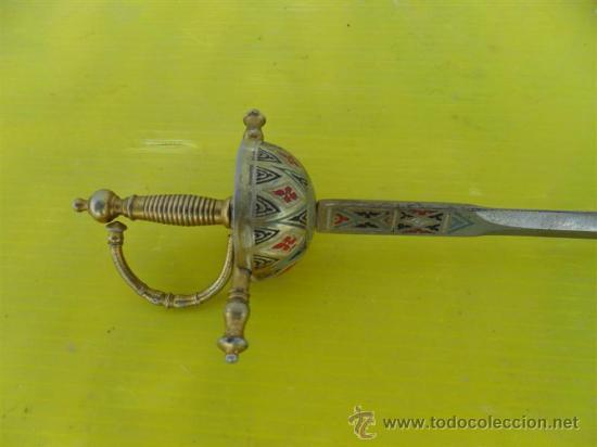 PEQUEÑA ESPADITA DE TOLEDO (Militar - Armas Blancas, Reproducciones y Piezas Decorativas)