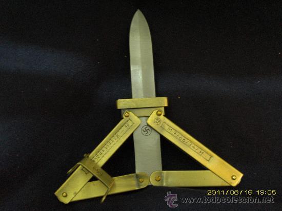 CUCHILLO PARACAIDISTA ALEMAN WW- 2 REPROD. ( SALIDA 1 EURO ) (Militar - Armas Blancas, Reproducciones y Piezas Decorativas)