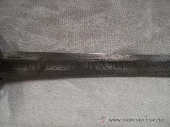 Militaria: Espada ropera con guarnición de concha. Siglo XVII /XVIII. Posiblemente fabricada en Alemania. - Foto 21 - 27970530