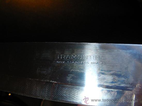 Militaria: Cuchillo decorativo del Barsil con piedras preciosas. Hoja Tramontina acero inoxidable. - Foto 9 - 30519753