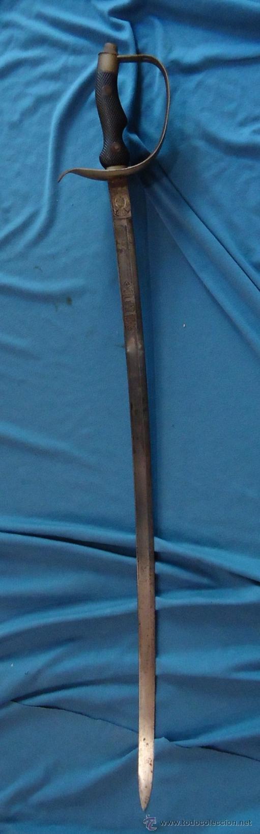 Militaria: España. Sable modelo Robert. Oficial de Institutos Montados. Modelo 1895. Artillería. - Foto 4 - 31709549