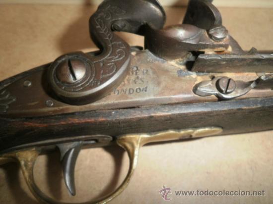ANTIGUA PISTOLA DE CHISPA , 1900 INGLESA REPRODUCCION (Militar - Armas Blancas, Reproducciones y Piezas Decorativas)