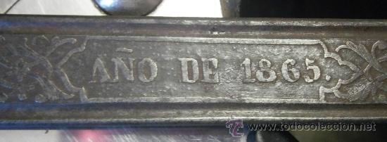 Militaria: Espada sable modelo 1868 para oficial de carabineros. - Foto 8 - 29384304