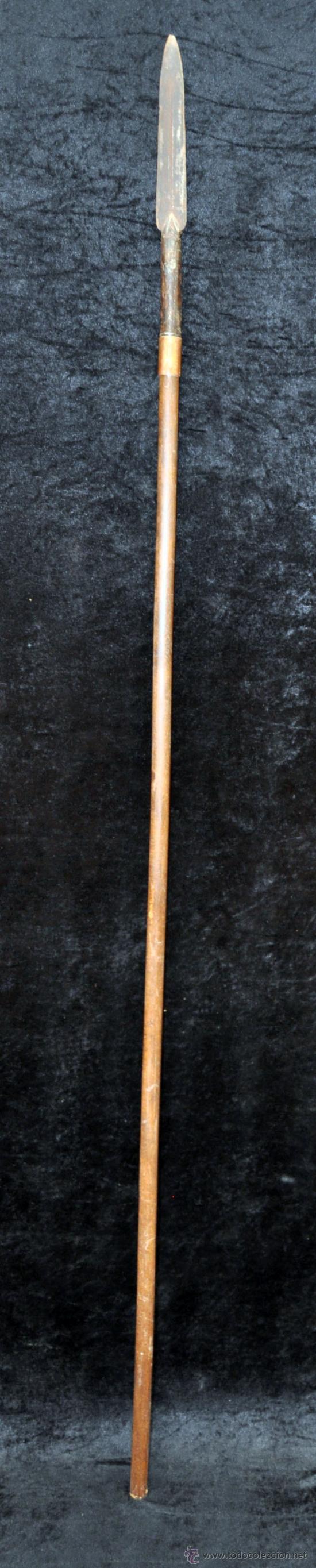 LANZA ESPAÑOLA DEL SIGLO XVIII (Militar - Armas Blancas Originales de Fabricación Anterior a 1850)