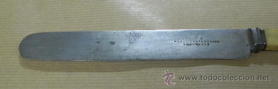 Militaria: Antiguo Cuchillo MARSH BROTHERS & CO, SHEFFIELD, V R, old knife, el cuchillo esta sin limpiar, mang - Foto 2 - 33507564
