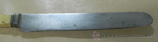 Militaria: Antiguo Cuchillo MARSH BROTHERS & CO, SHEFFIELD, V R, old knife, el cuchillo esta sin limpiar, mang - Foto 4 - 33507564