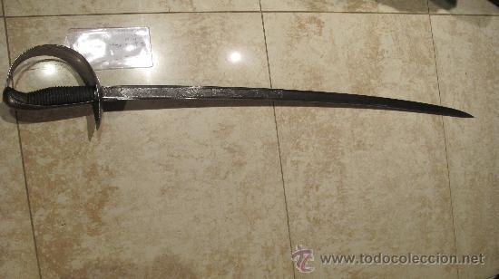 SABLE OFICIAL SIN CATALOGAR - ARTILLERIA DE TOLEDO AÑO 1854 (Militar - Armas Blancas Originales Fabricadas entre 1851 y 1945)